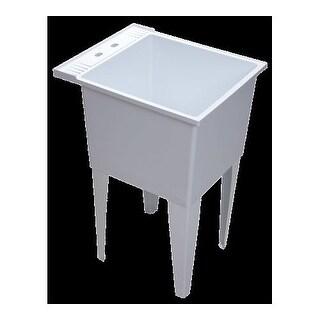 "Proflo PFLT2024 20"" Single Compartment Floor Mounted Laundry Sink"