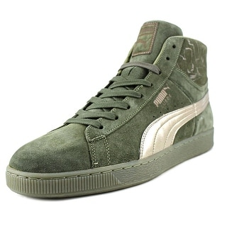 Puma Suede Mid Classic   Round Toe Suede  Sneakers