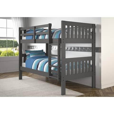 Dark Grey Twin Over Twin Mission Bunk Bed