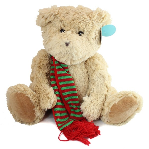 Beverly Hills Christmas Bear with Scarf 18""