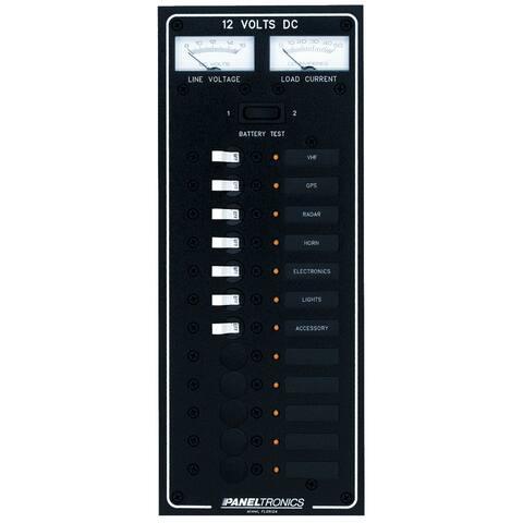 Paneltronics dc 12 position circuit breaker panel with