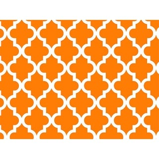 """Pack Of 1, Orange Geo Graphic Tiles 24"""" X 417' Roll Gift Wrap Perfect For Weddings, Graduation, Christmas & Valentine's Day"""