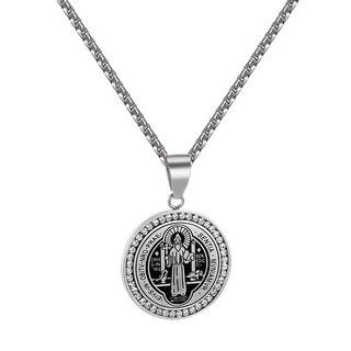 St BenedictiI Benedict Medal Charm Chain Evis Obitv Nro Prae Sentia Mvniamvr Men