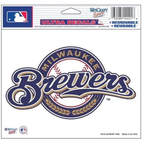 """Milwaukee Brewers Decal 5x6 Multi Use Color - 5"""" x 6"""""""