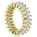 2.88 cttw. 14K Yellow Gold Marquise Diamond Eternity Ring - Thumbnail 2