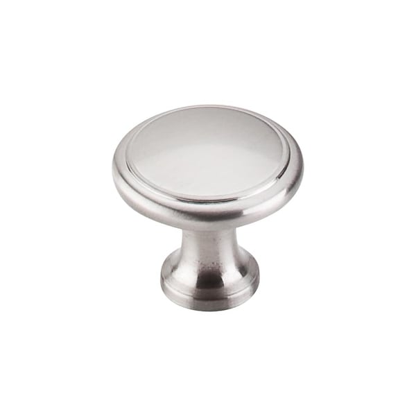 "Top Knobs M376 Ringed 1-1/8"" Diameter Mushroom Cabinet Knob from the Nouveau Series - Brushed Satin Nickel - n/a"