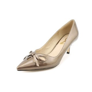 Joan & David Gardner Women Pointed Toe Patent Leather Bronze Heels