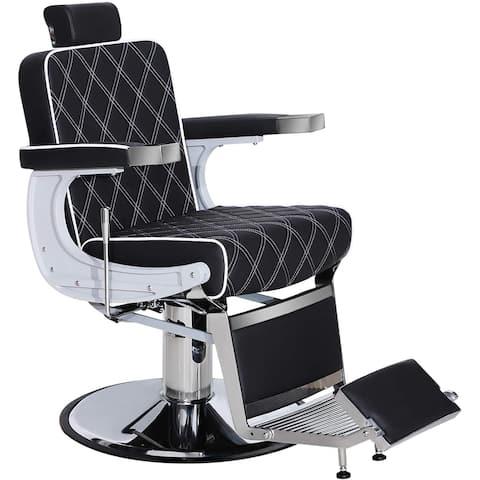 Vintage Barber Chair Hydraulic Recline Salon Beauty Spa Equipment 3825