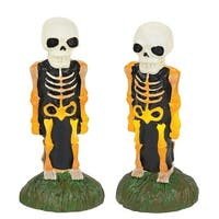 Department 56 Halloween Accessories for Village Collections Lit Skeleton Yard Décor Lights, Multicolor