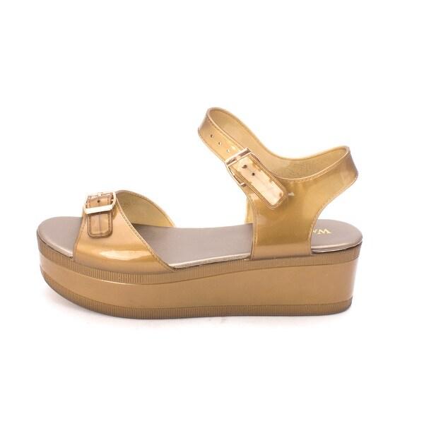 Wanted Shoes Womens Gumdrop Open Toe Casual Platform Sandals