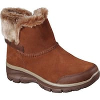 Skechers Women's Relaxed Fit Easy Going Quantum Ankle Boot Brown