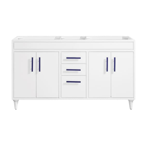 """Avanity LAYLA-V60 Layla 60"""" Double Free Standing Wood Vanity Cabinet Only - White"""