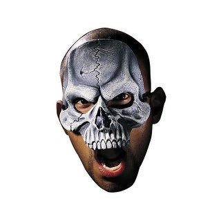 Disguise Skull Adult Vinyl Chinless Mask - grey