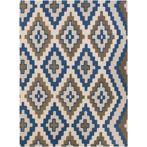 Hand-woven Freda Reversible Wool Area Rug