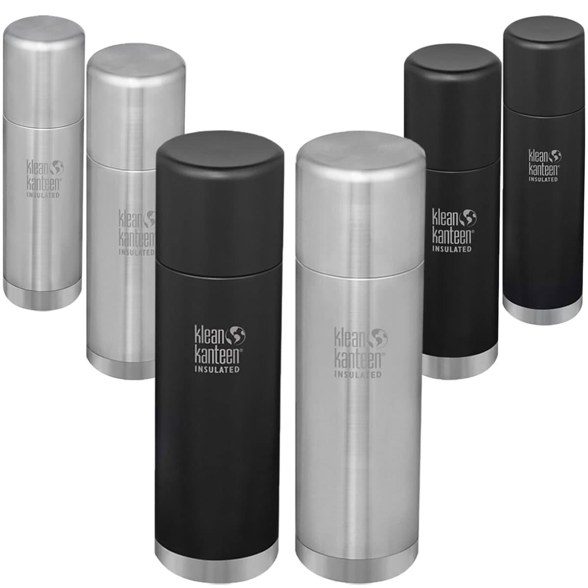 Black Stainless Steel 33.8 oz Klean Kanteen TK Pro 1L