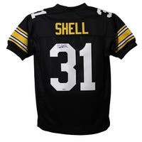 Donnie Shell Autographed Pittsburgh Steelers Black XL Jersey SGC