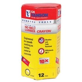 "C.H. Hanson 10385 Lumber Crayon, 4-1/2"" x 1/2"", Yellow"