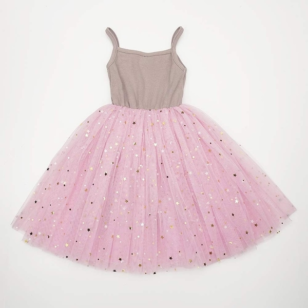 Toddler Girls Dresses Tutu Party Sequins Stars Prints Tulle Princess Style 6m to 4t