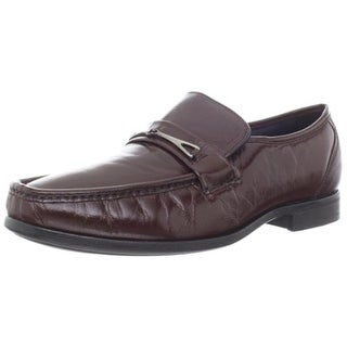 Florsheim Mens Bastille Bit Leather Slip On Loafers - 9 extra wide (e+, ww)