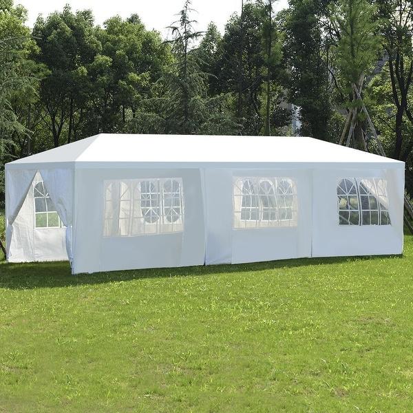 Costway 10'x30'Heavy duty Gazebo Canopy Outdoor Party Wedding Tent