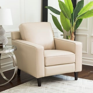Link to Abbyson Milton Top Grain Leather Armchair Similar Items in Living Room Chairs
