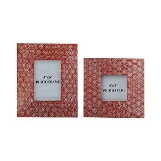 Bansi Orange Photo Frame A2000150F - Set of 2 Bansi Orange Photo Frame - Set of 2