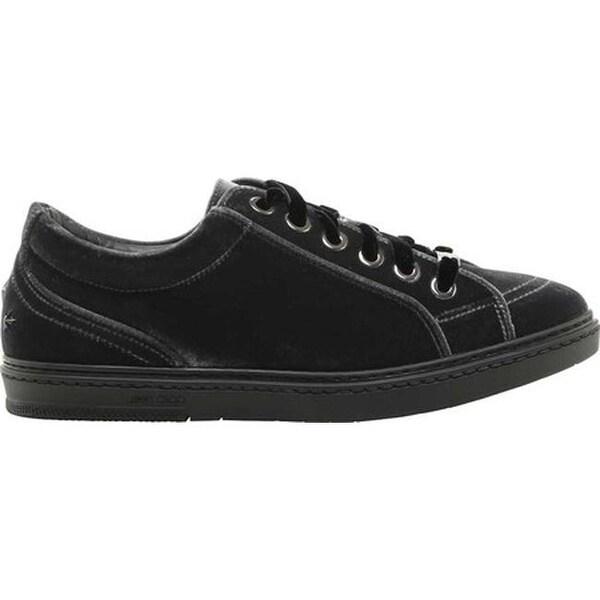 2d082a0a965cd Shop Jimmy Choo Men's Cash Velvet Low Top Sneaker Slate Velvet ...