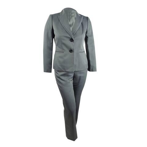 Le Suit Women's Herringbone Pantsuit (10, Steel Multi) - 10
