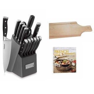 Cuisinart Triple Rivet 15-Piece Block Set w/ Free Cookbook & Wooden Bread Board