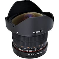 Rokinon 8mm f/3.5 HD Fisheye Lens with Removable Hood for Canon - Black