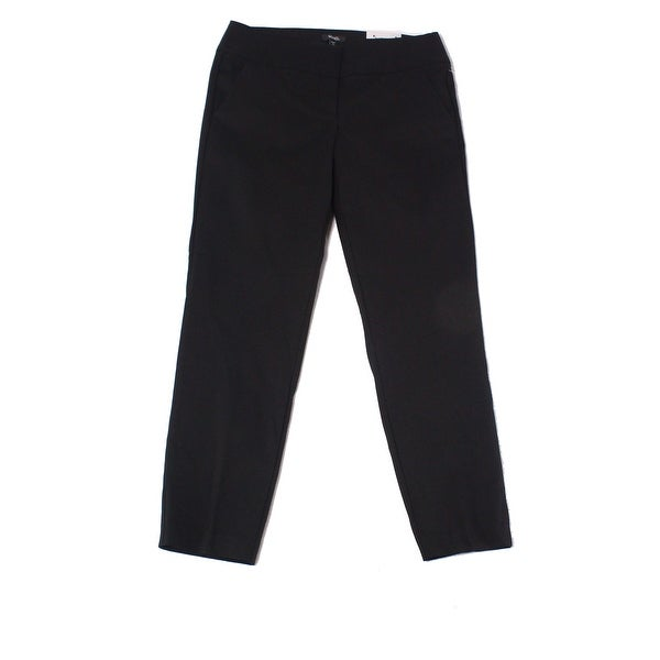 XOXO Deep Black Size 15/16 Junior Flat-Front Dress Pants Stretch
