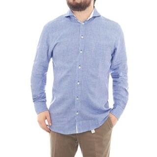 Eton Long Sleeve Collared Button Down Men Regular Dress Button