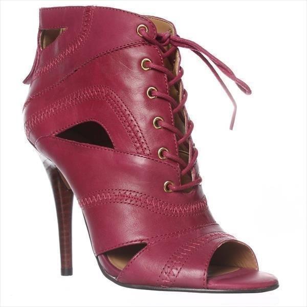 Nine West Acomplise Lace Up Ankle Boots, Purple