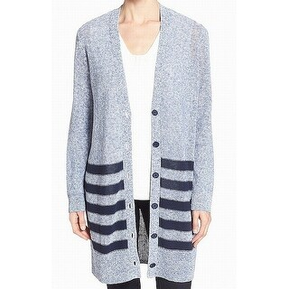 Nordstrom Collection Blue Womens Size Large L Cardigan Sweater
