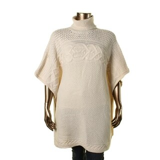 Lauren Ralph Lauren Womens Wool Poncho Sleeves Poncho Sweater - L/XL