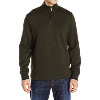 Perry Ellis NEW Rosin Green Mens Size Large L Pullover 1/2 Zip Sweater