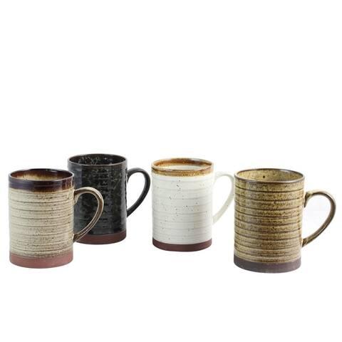 Gibson Home Terra Bella 4 Piece 18.5 oz Mug Set in Assorted Colors
