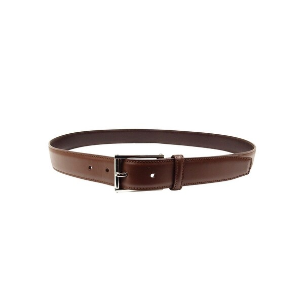 Alfani Men's Dual Keeper Smooth Faux Leather Belt - Brown