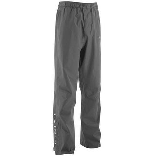 Huk Men's Performance Packable Large Charcoal Grey Packable Fishing Rain Pants