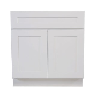 """Design House 561498  Brookings 36"""" Wide x 34-1/2"""" High Double Door Base Cabinet with Single Drawer - White"""