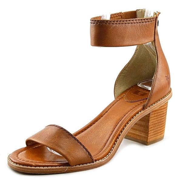 887e769d1b9 Shop Frye Brielle Back Zip Women Open Toe Leather Brown Sandals ...