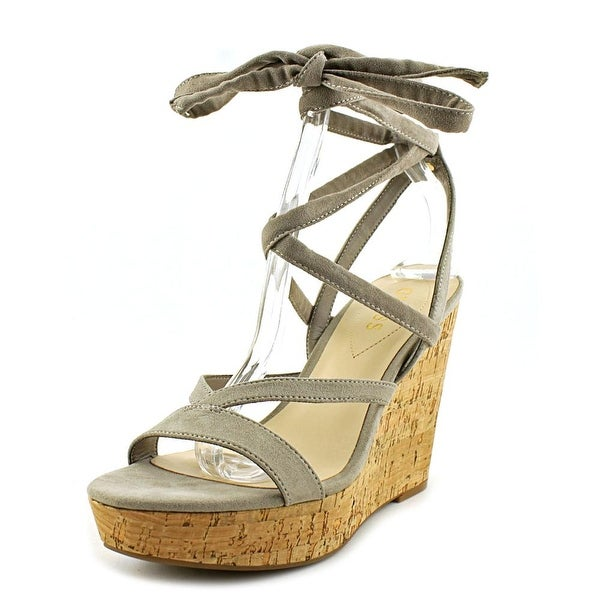 bbd918e0b11 Shop Guess Treacy Open Toe Canvas Wedge Sandal - Free Shipping On Orders  Over  45 - Overstock - 17128463