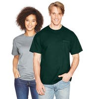 Hanes Beefy-T Adult Pocket T-Shirt - Size - 2XL - Color - Deep Forest