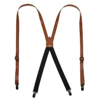 CTM® Leather Clip-End 3/4 Inch Suspenders