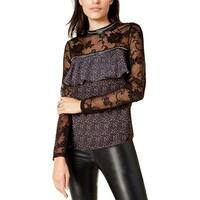 Glamorous Womens Juniors Poncho Top Lace Studded
