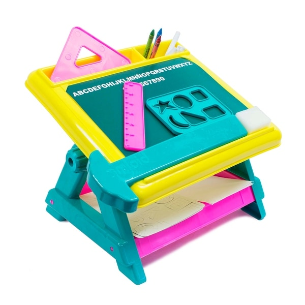 Design and Doodle 15-Piece Creativity Center Tabletop Art Desk - Multi-Color