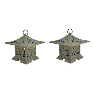 Set of 2 Dragonfly Pagoda Outdoor Rechargeable LED Fragrance Warmers