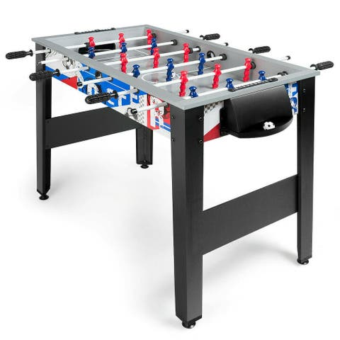 "42"" Wooden Foosball Table for Adults & Kids Home Recreation - Grey"