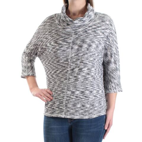 RACHEL ROY Womens Gray 3/4 Sleeve Jewel Neck Sweater Size: M