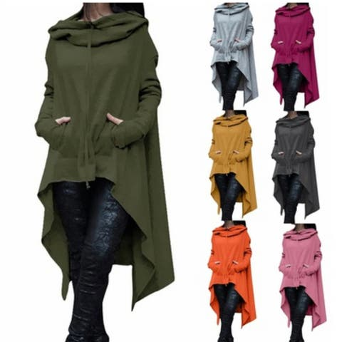 High-Low Poncho Hoodie (Small-5X)